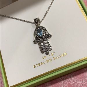 Jewelry - Sterling Silver Hamsa Pendant Necklace